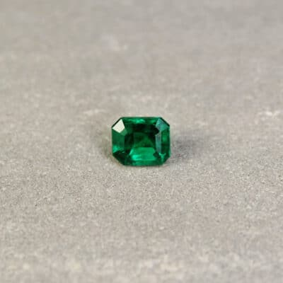 1.15 ct bluish green octagon emerald