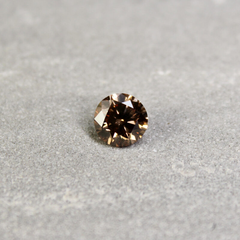 1.23 ct brown round diamond