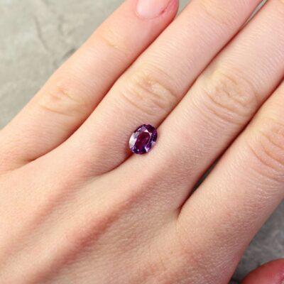 1.35 ct purple oval sapphire