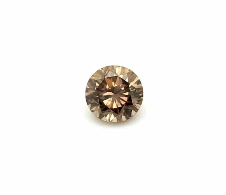 1.35 ct brown round diamond