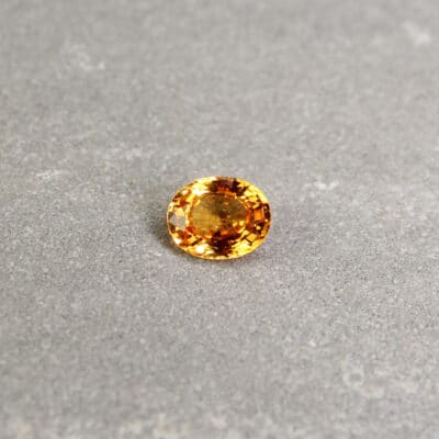 Yellowish Orange Oval Sapphire
