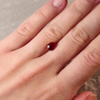 1.46 ct red oval ruby