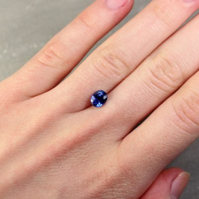 1.53 ct blue oval sapphire