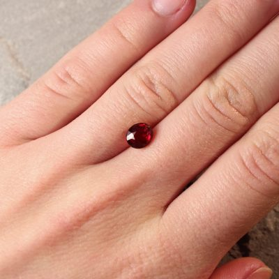 1.58 ct vivid red oval ruby