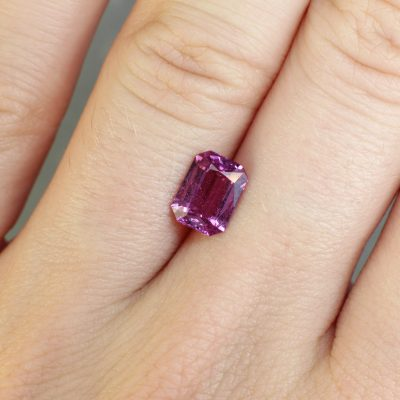 1.65 ct pink octagon sapphire