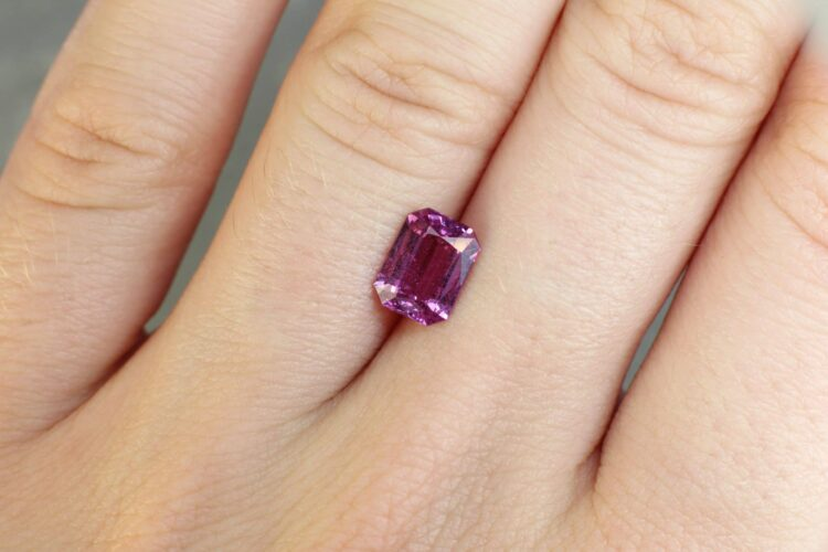 1.65 ct pink octagon sapphire