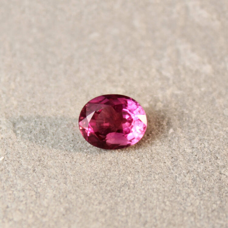 1.68 ct pink oval sapphire