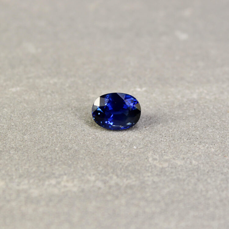 1.76 ct violetish blue oval sapphire