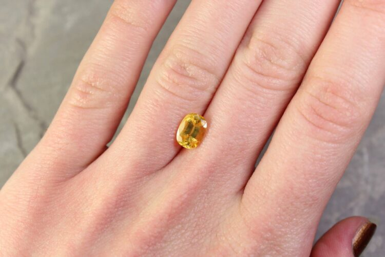 1.84 ct yellow oval sapphire