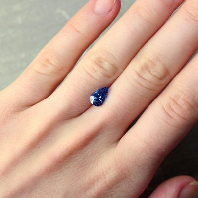 1.89 ct blue pear shape sapphire