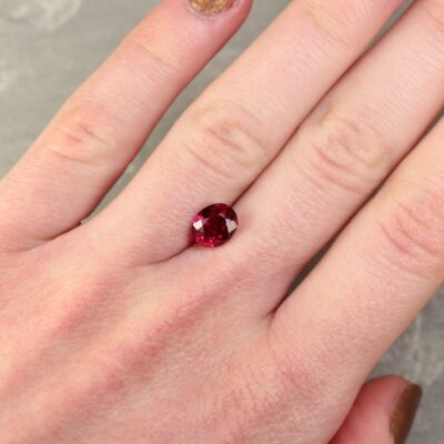 1.98 ct red oval ruby