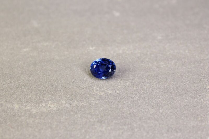 2.03 ct blue oval sapphire