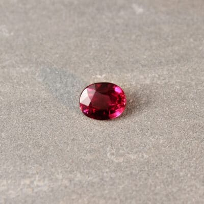 2.04 ct vivid red oval ruby