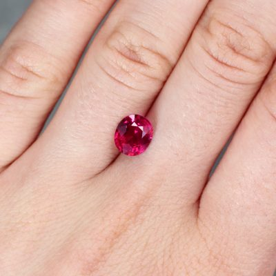 2.05 ct purplish red oval ruby rhig193