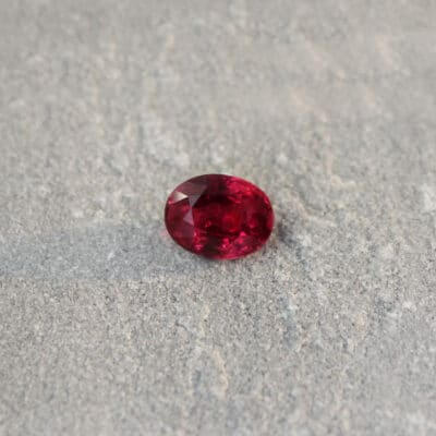 2.08 ct vivid red oval ruby