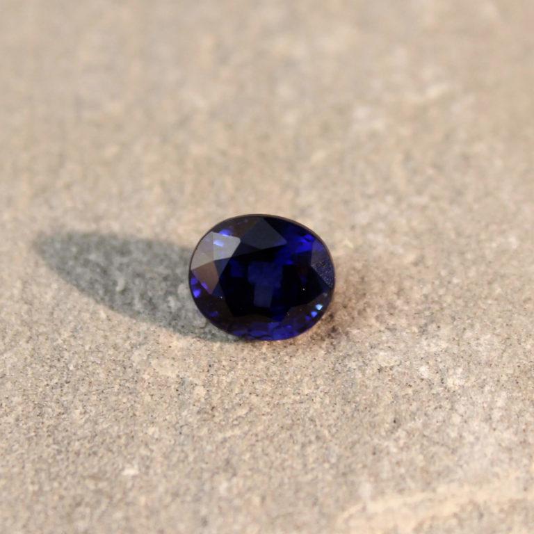 2.19 ct blue oval sapphire