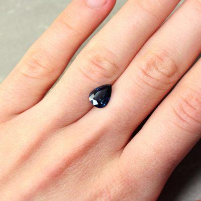 2.24 ct blue pear sapphire