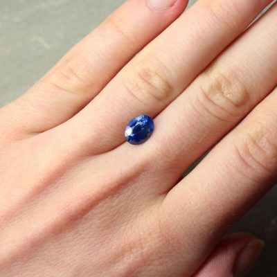 2.32 ct blue oval sapphire