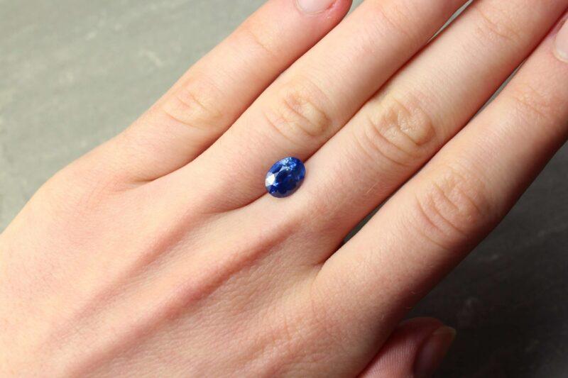 2.32 ct blue oval sapphire
