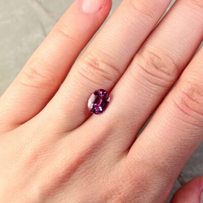 2.33 ct pink oval sapphire