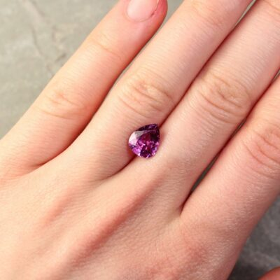 2.49 ct violetish pink pear sapphire
