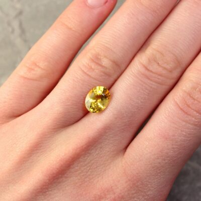 2.65 ct yellow oval sapphire