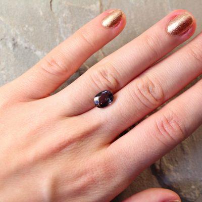 2.79 ct purple oval sapphire