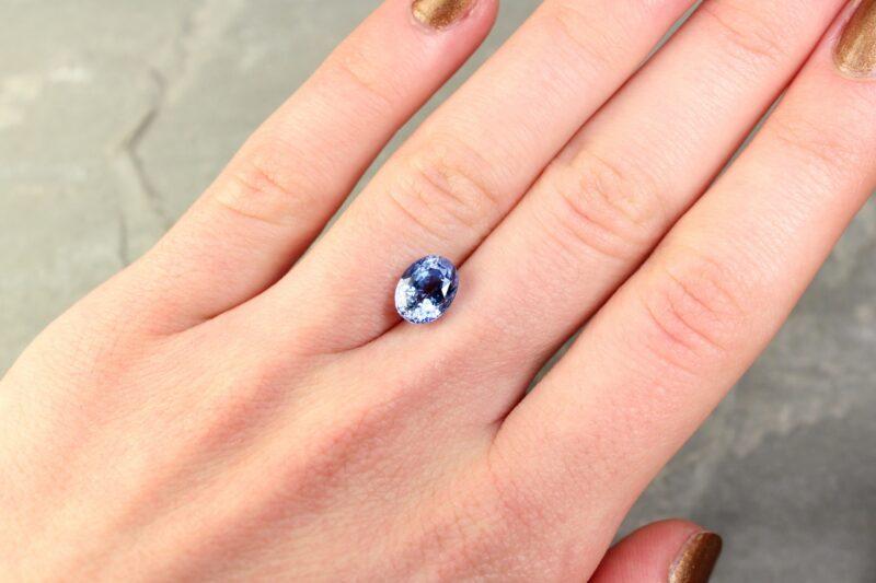 2.99 ct blue oval sapphire