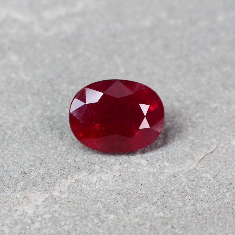 3.18 ct red oval ruby