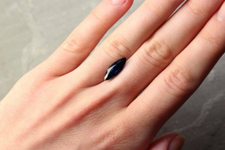 3.29 ct blue marquise sapphire