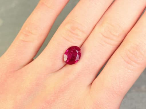 4.03 ct red oval ruby