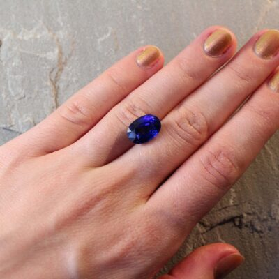 7.51 ct royal blue oval sapphire