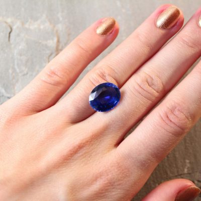 9.59 oval royal blue sapphire