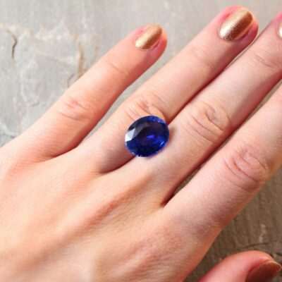 9.59 oval royal blue sapphire