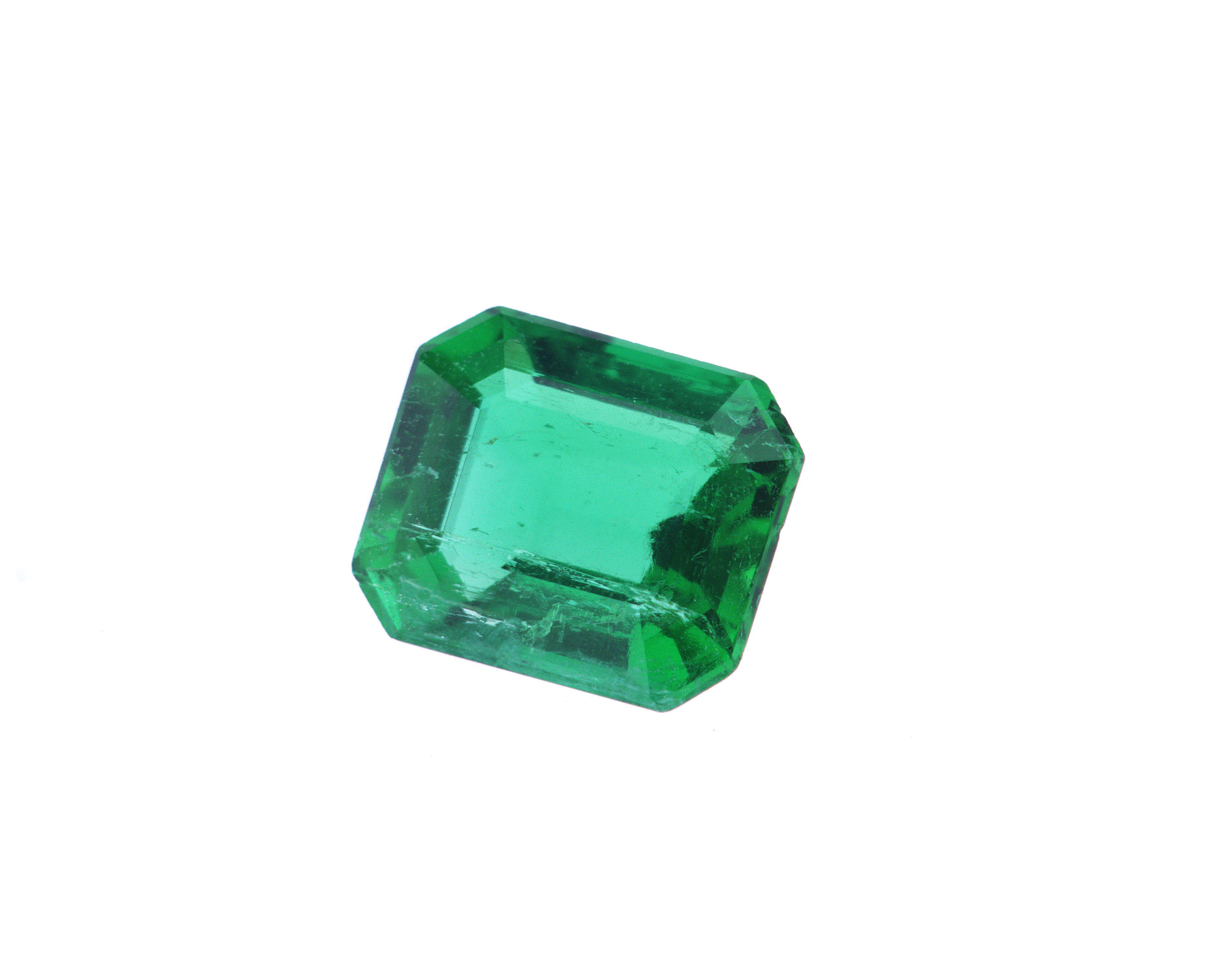 0.60 ct green octagon emerald