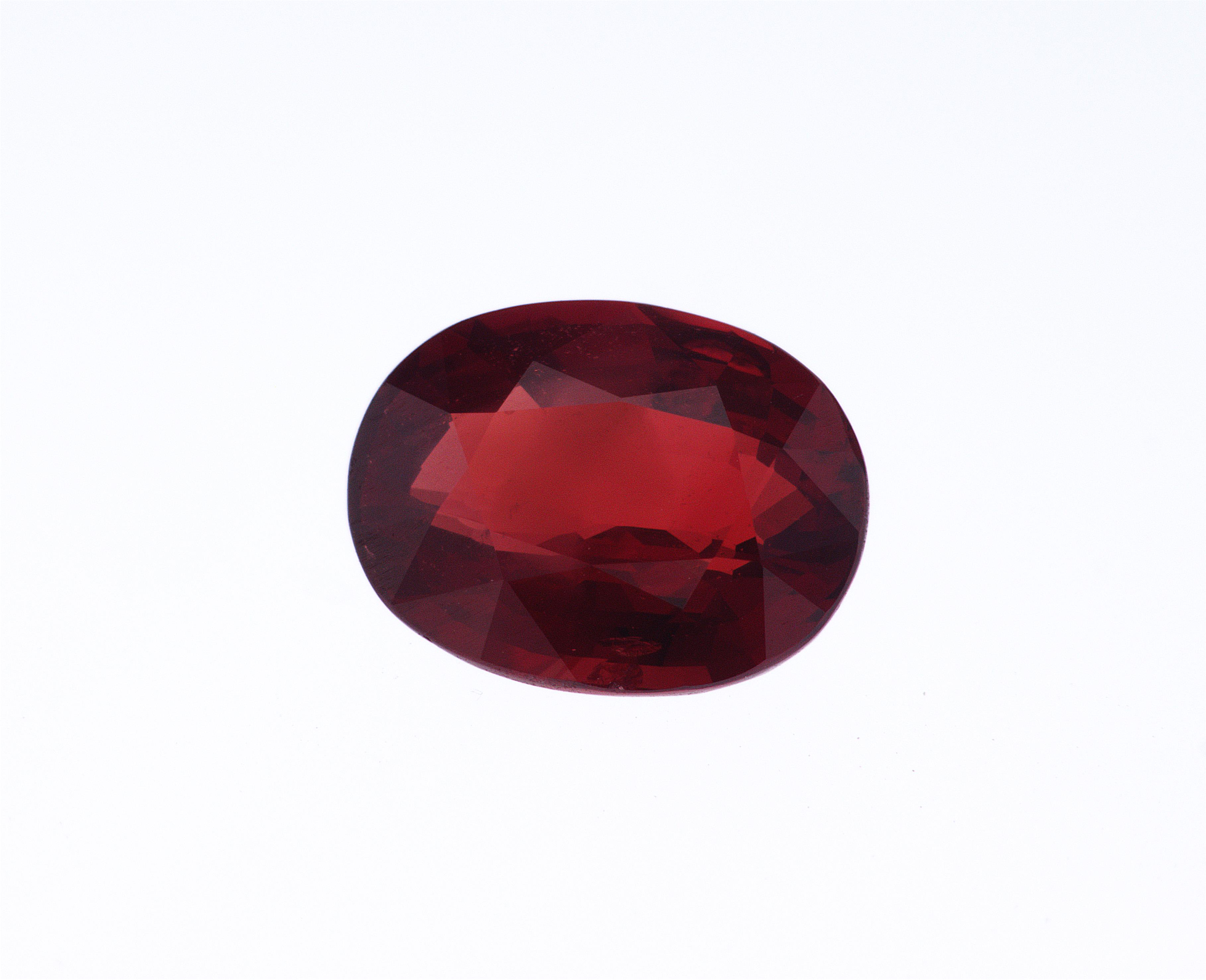 2.03 ct vivid red oval ruby