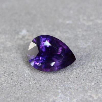 3.11 ct purple pear sapphire