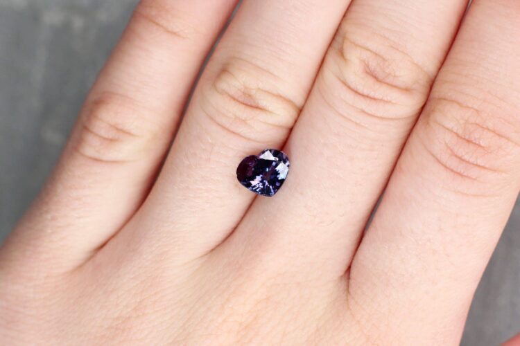 2.03 ct purple heart sapphire