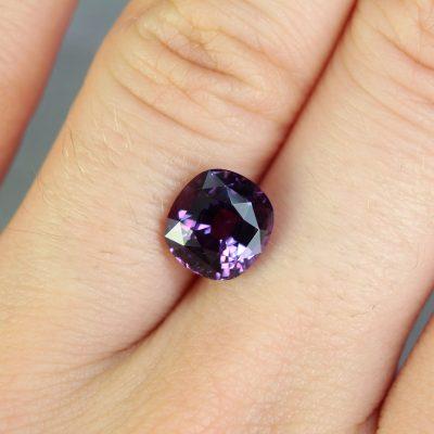 3.03 ct purple cushion sapphire