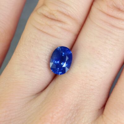 2.11 ct blue oval sapphire