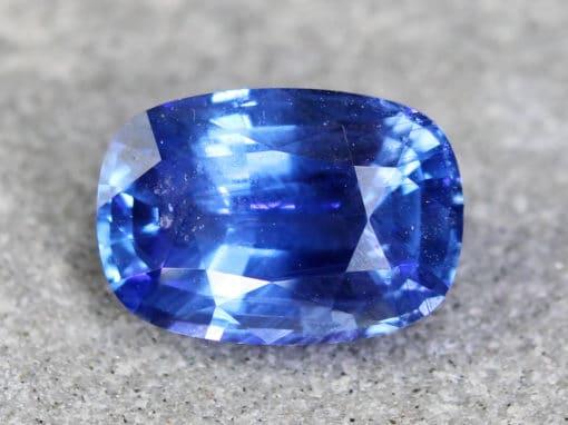 2.10 ct blue cushion sapphire