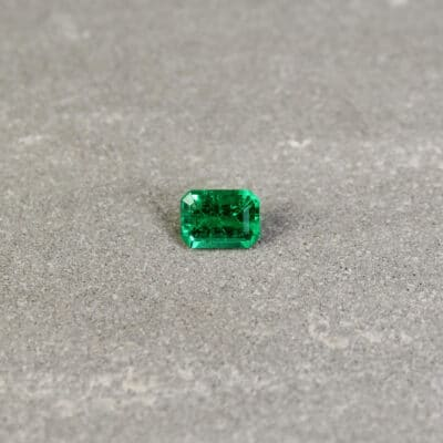 0.57 ct emerald cut green emerald