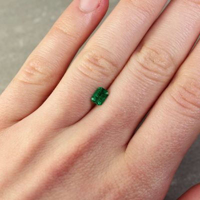 0.57 ct emerald cut green emerald