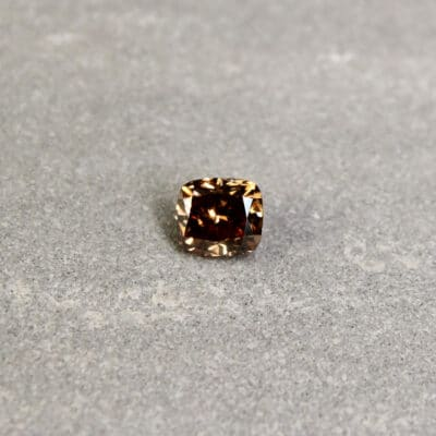 1.02 ct brown cushion diamond