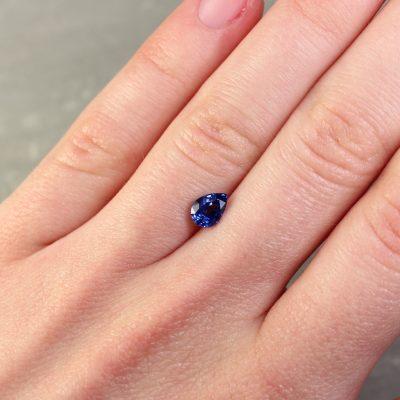 1.04 ct blue pear shape sapphire