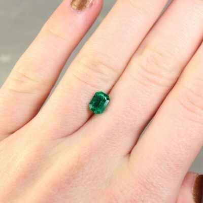 1.05 ct emerald cut green emerald