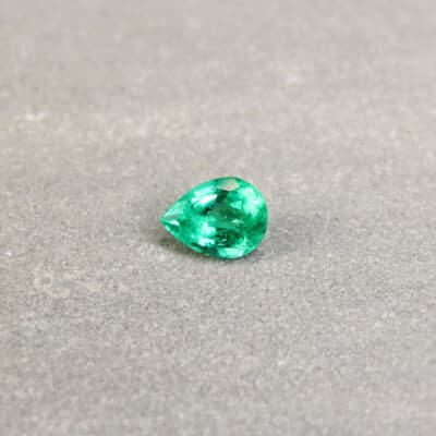 1.11 ct pear green emerald