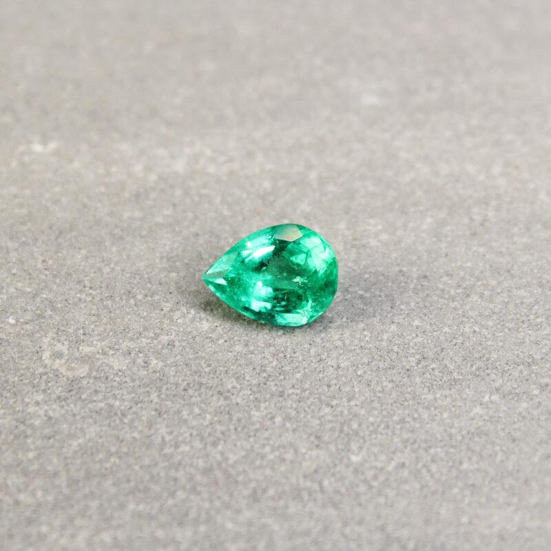1.11 ct pear green emerald