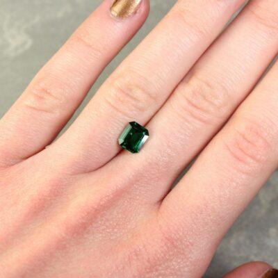 1.23 ct octagon green emerald