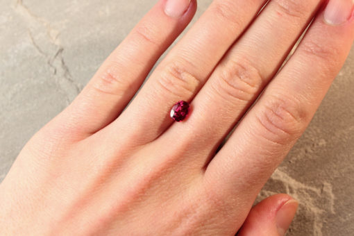 Red Oval Ruby
